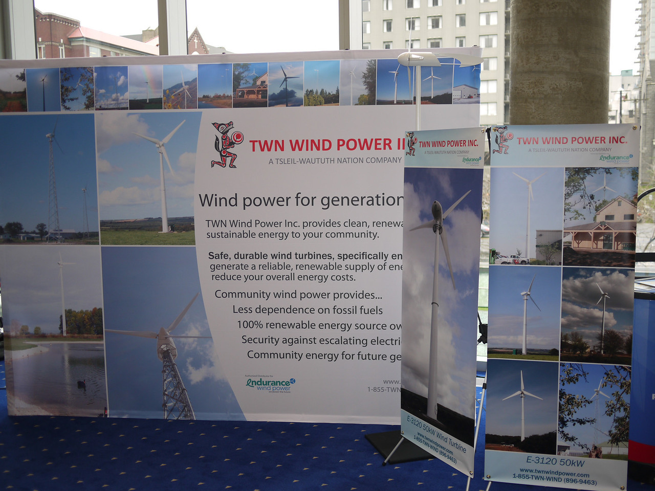 TWN Wind Power - joint venture with Tsleil-Waututh First Nation.