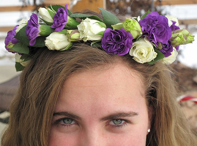 January 2010 - Flower girl headpiece - front