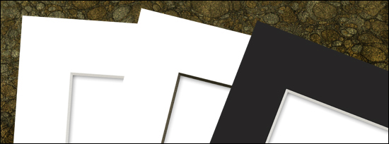 White mat with white edge. White mat with black edge(My personal favorite). Black mat with white edge.