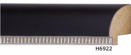 In stock for Desk Frame - Silver/Bronze trim on black wood.