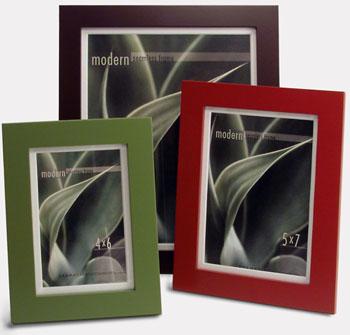 Color - Modern Frames.  Look beautiful in a wall arrangement