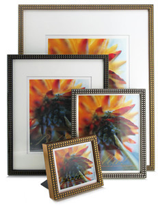 The Beaded - Looks good with or without matting  Available for both wall display or desk