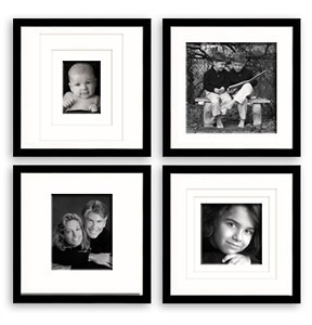 Wall collection for triple matting in stock in Silver, White, Black or Walnut