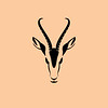 Vector sign abstract head of African gazelle