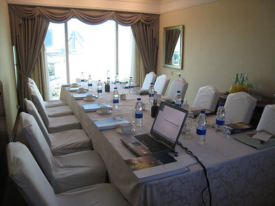 Grand Hyatt Dubai: Room set up for Mark Farley's presentation.