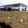 The shovels awaited for the official groundbreaking of the Greenville Technology Inc. new auto parts plant.