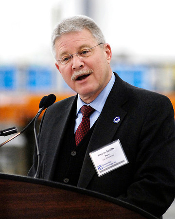 Andeson Mayor Kevin Smith was one of the speakers for GTI's grand opening ceremony.