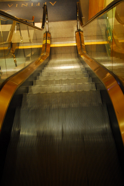 Escalator at Affinia hotel in New York
