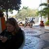 Meredith emailing home from Hotel Plaza Loreto. Loreto, Baja Sur, 2012.