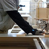 Kayla Rice/Reformer<br /> Greg Goodman of Goodman Cabinetry works in his studio at the Cotton Mill in Brattleboro on January 27th.