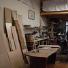 Kayla Rice/Reformer<br /> Bela Takacs works in Goodman Cabinetry's studio at the Cotton Mill in Brattleboro on January 27th.