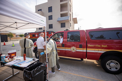 April 16, 2020 Gordon Center COVID Testing Hialeah Fire-100