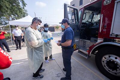 April 16, 2020 Gordon Center COVID Testing Hialeah Fire-118
