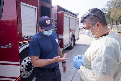 April 16, 2020 Gordon Center COVID Testing Hialeah Fire-121