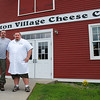 Kayla Rice/Reformer               <br /> Cheesemakers Dane Huebner and Greg Joslyn at the Grafton Village Cheese Company in Brattleboro, VT.
