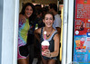 Employees at the Colorado Avenue Dutch Bros. Coffee preparing beverages with a smile!