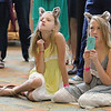 Great Wolf Resort in Fitchburg had its grand opening on Thursday morning. Listen to the speakers at the event are sisters Reagan McWhinney, 9, and Olivia McWhinney, 10, from Colorado. SENTINEL & ENTERPRISE/JOHN LOVE