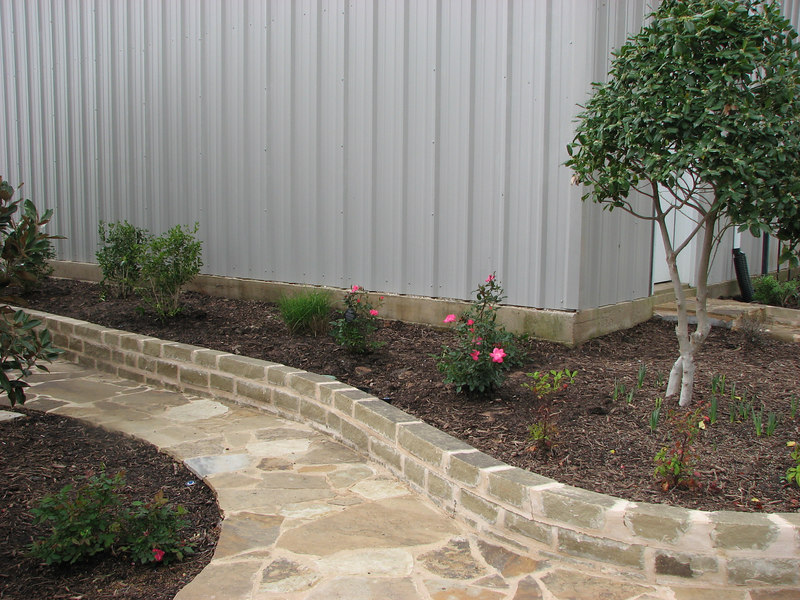 The west side of the kennels - new landscaping March 2007