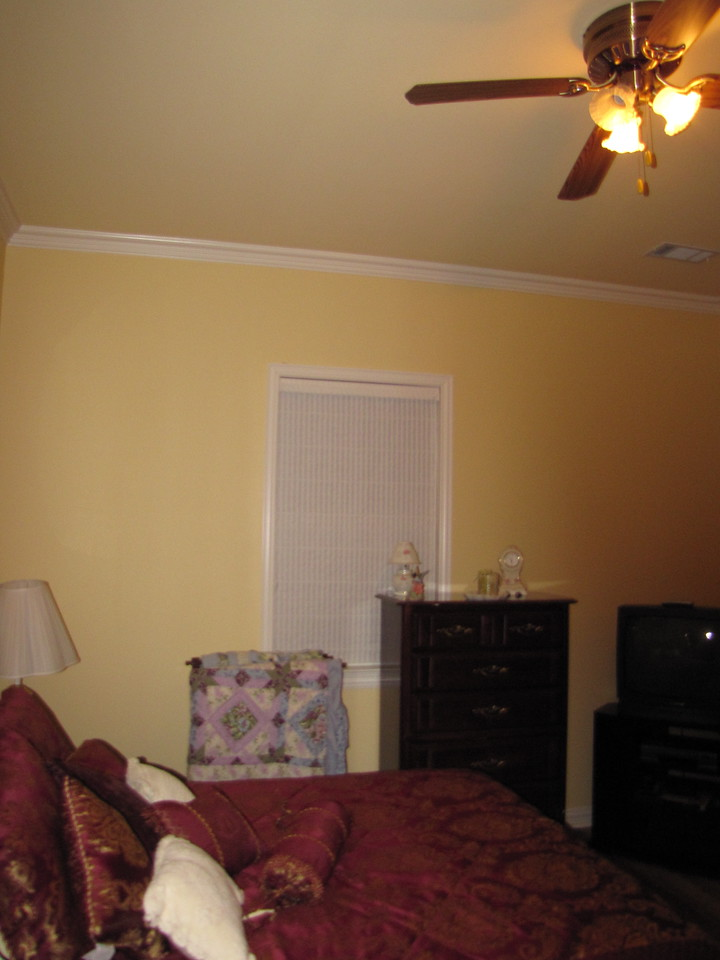 Ceiling fan in high ceiling Green Acres Garden B&B - Luxury in the country! Private Cottage on Lake Lavon...