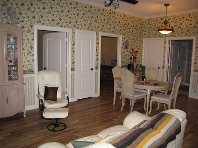 Sitting area looking toward bedrooms and Bath area Green Acres Garden B&B - Luxury in the country! Private Cottage on Lake Lavon...