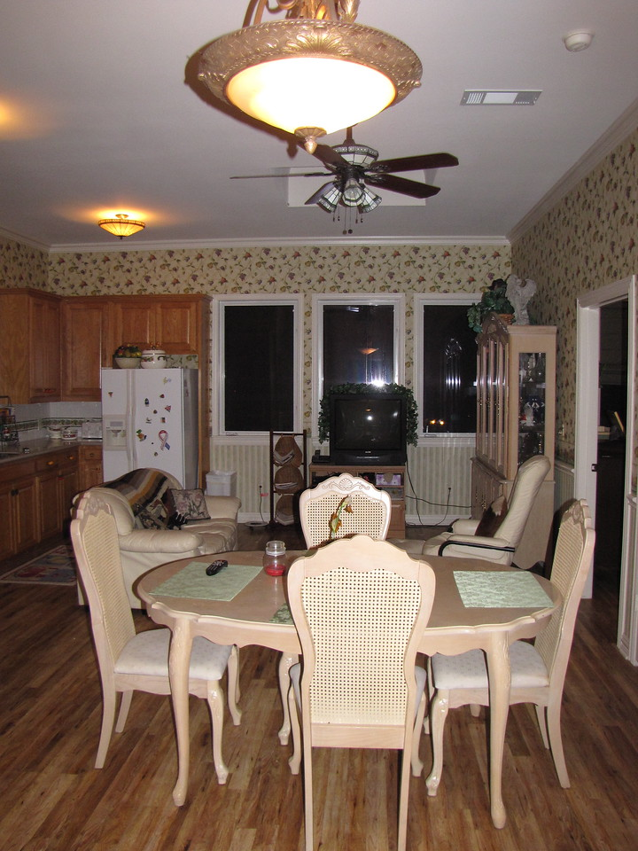 Dining area looking out toward Lake Green Acres Garden B&B - Luxury in the country! Private Cottage on Lake Lavon...