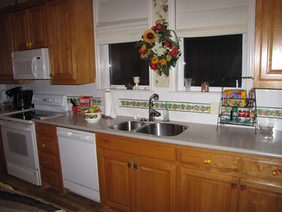 Kitchen - Note 2 coffeepots (one is one cup) Coffee provided! Green Acres Garden B&B - Luxury in the country! Private Cottage on Lake Lavon...