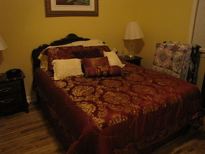 Another view of the GOld ROom with Cherry Wood furnishings and luxurious bed linens Green Acres Garden B&B - Luxury in the country! Private Cottage on Lake Lavon...