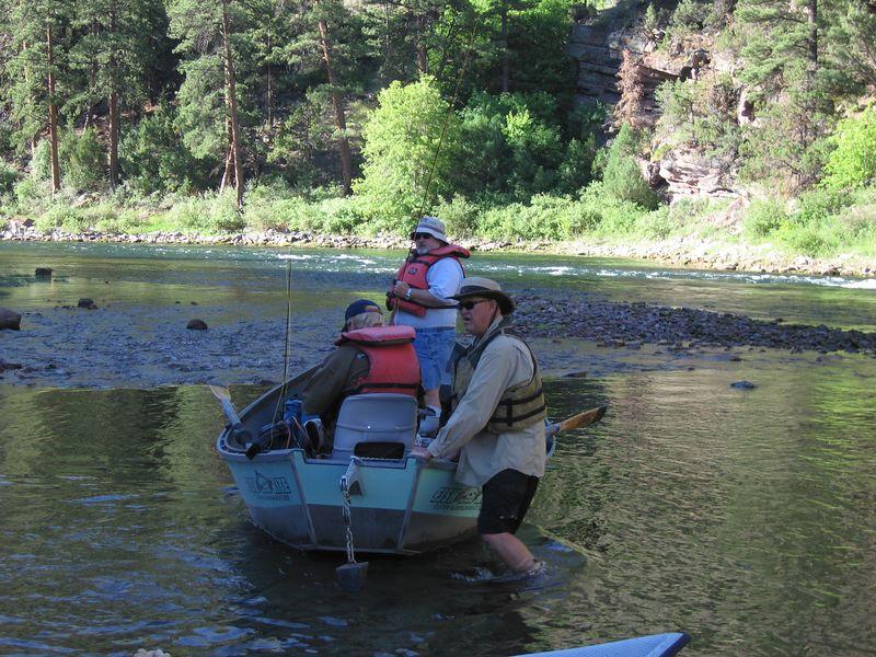 Chuck setting Bob and Gary afloat