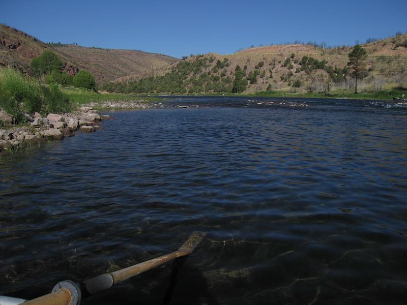 Riffles where I caught my first fish