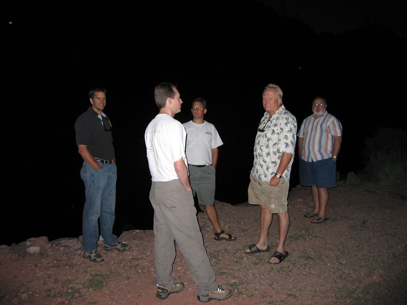 Checking out Section A's boat ramp in the dark