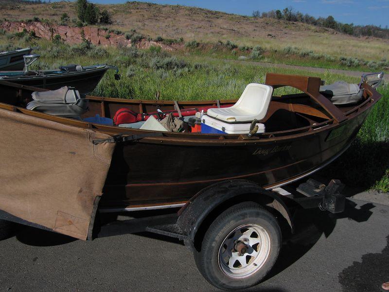 A cool wooden drift boat