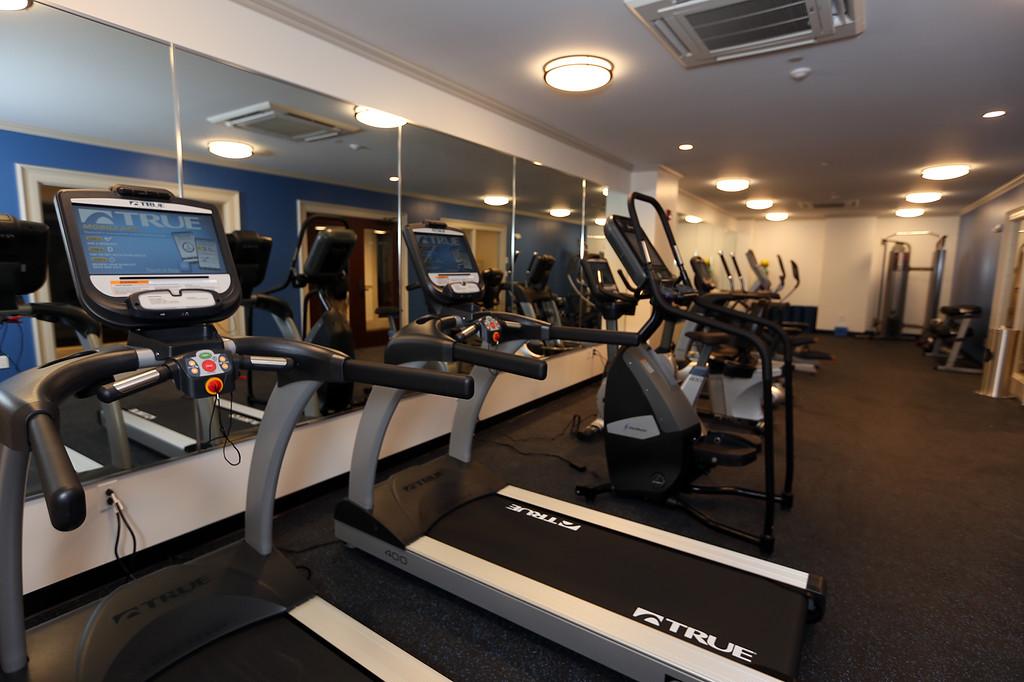 . Groton Inn reopens. Basement fitness center. (SUN/Julia Malakie)