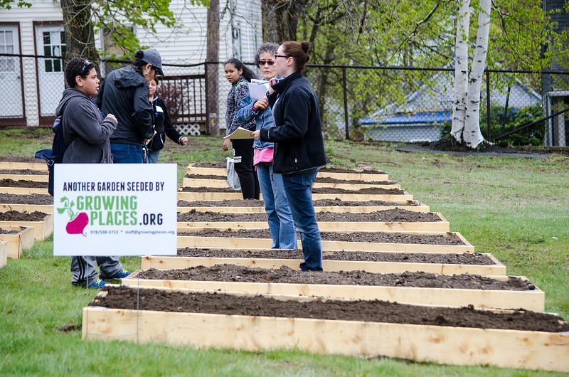 A grand opening of Growing Places new teaching garden was held at St. Joseph's Church in Fitchburg on Saturday afternoon. SENTINEL & ENTERPRISE / Ashley Green