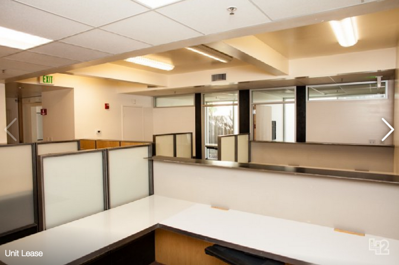 NW view  - 4 interior built-in desks and 2 office rooms