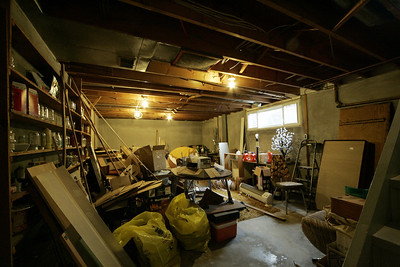 Main basement room, before reno. This becomes the room with the fireplace...