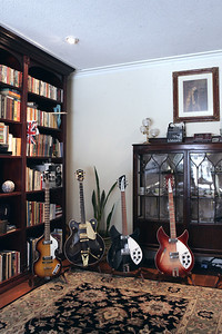 Crown Molding, Living Room & Guitars