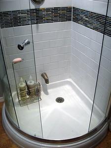 Installed fancy shower.