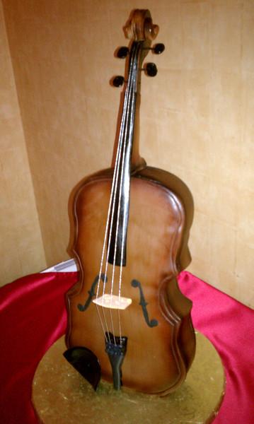 Julana's Vertical Sculpted Violin