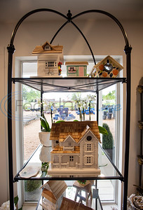 Elaborate bird houses and other garden decorations are for sale at Hand Nurseries in Tyler on Friday, March 20, 2020.