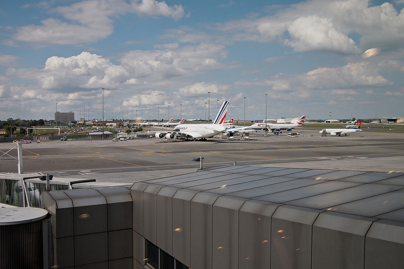 Air France Airbus A380 at Johannesburg's Oliver Tambo International Airport.