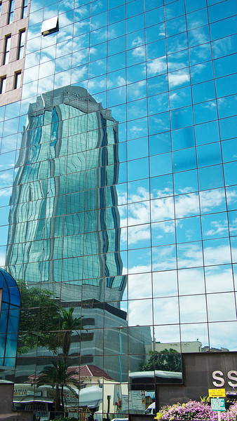 The Zimnabwe Reserve Bank, reflected in the SSC Building.