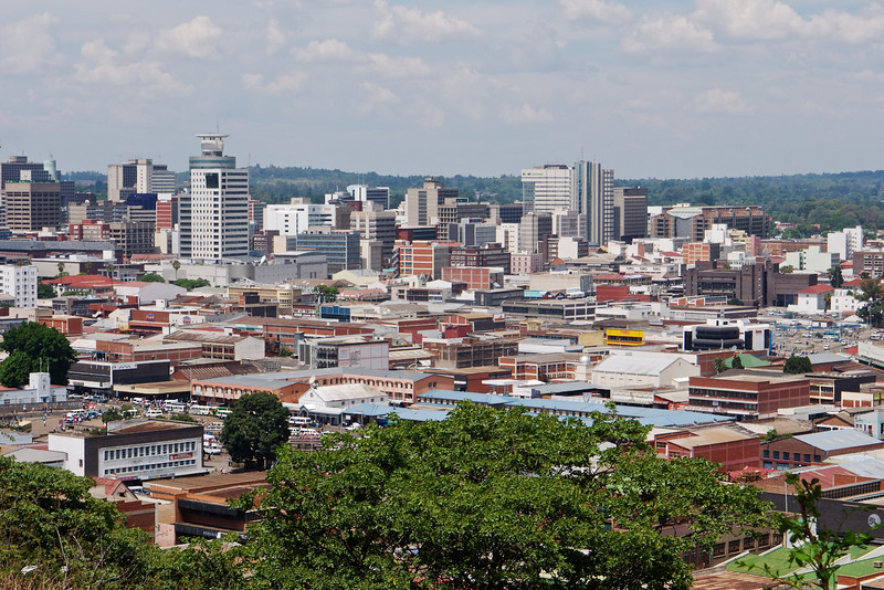 This is the city of Harare, taken from a Kopje.