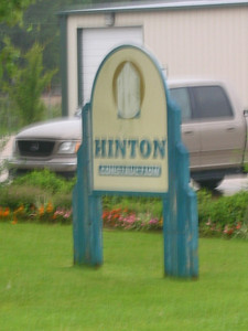 Hinton Const. (location of phone pedastal across street from L/T)