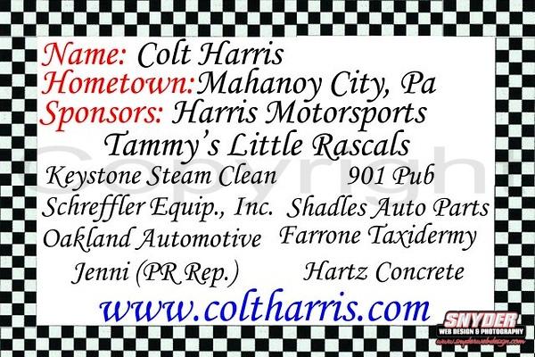 Colt 2008 back pcards 2008