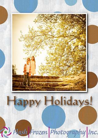 Hanukah Happy Holiday bluebery polakdot