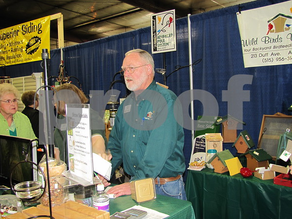 Birds Unlimited of Ames, Iowa had a booth at The Messenger's Home & Garden Show.
