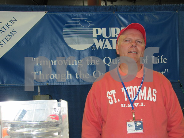 Larry Wittry of Pure Water was on hand to answer questions at the Home & Garden Show.