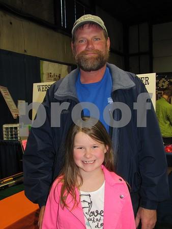 Alyssa and her dad, Doug Elbert attended the Home & Garden Show.