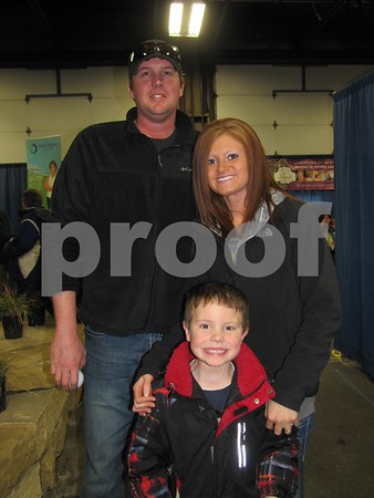 Kelly George, Jennifer Messerly, and Max George at the Messenger's Home & Garden Show.