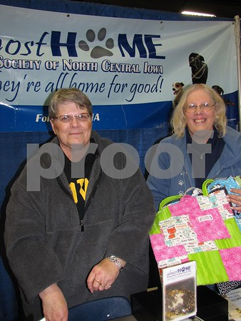 Sharon Winn and Cindy Larson representing Almost Home Animal Shelter in Fort Dodge.